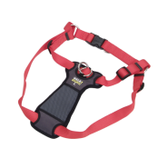 "Walk Right Front-Connect Padded Harness 24""-38"" Red Large"