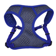 "Comfort Soft Sport Wrap Adj Harness 3/8x14-16"" Grey/Blue"