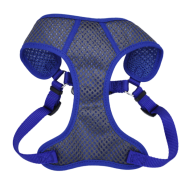 "Comfort Soft Sport Wrap Adj Harness 5/8x19-23"" Grey/Blue"
