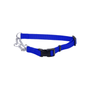 "Adj Check Training Collar w/Buckle 5/8"" Blue 18"""
