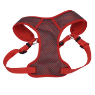 "Comfort Soft Sport Wrap Adj Harness 3/4x22-28"" Grey/Red"