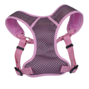"Comfort Soft Sport Wrap Adj Harness 3/4x22-28"" Grey/Pink"