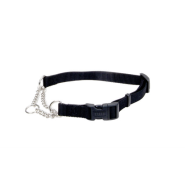 "Adj Check Training Collar w/Buckle 1"" Black 29"""