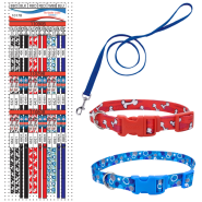 Pet Attire Styles and Core Collar & Leash Display