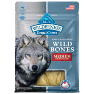 Blue Dog Wilderness Wild Bones GF Dental Chews REG 10 oz