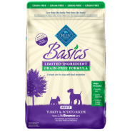 Blue Basics LID GF Dog Adult Turkey & Potato 24 lb